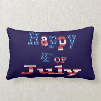 Happy 4th of July Patriotic Lumbar Pillow