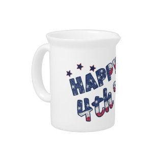 Happy 4th Of July Pitcher