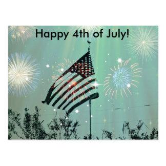 Happy 4th of July! Postcard