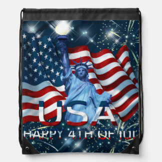 HAPPY 4TH OF JULY RUCKSACKS
