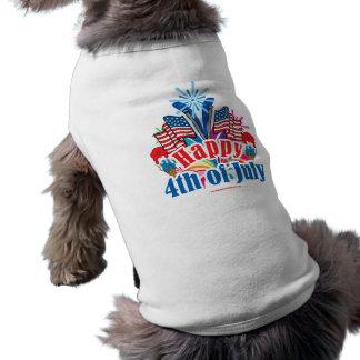 Happy 4th of July Sleeveless Dog Shirt