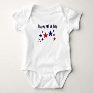 Happy 4th of July Stars Baby Bodysuit