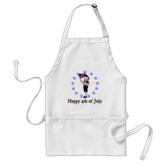 Happy 4th of July Vintage Art Adult Apron