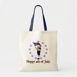 Happy 4th of July Vintage Art Budget Tote Bag