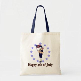 Happy 4th of July Vintage Art Budget Tote Bag