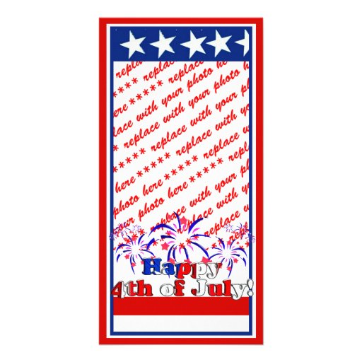 Happy 4th of July with Fireworks Photo Card