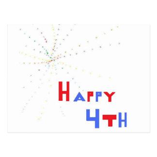Happy 4th postcard