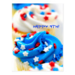Happy 4th!  Red, White and Blue Cupcakes