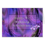 Happy 4th. Wedding Anniversary Cards