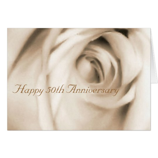 Happy 50th Anniversary rose card