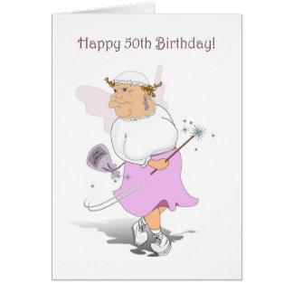 Happy 50th Birthday Card. Greeting Card