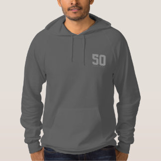 Happy 50th Birthday Funny Hoodie Typography Age
