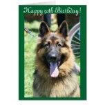 Happy 50th Birthday German Shepherd greeting card