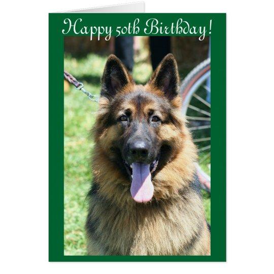 Happy 50th birthday german shepherd greeting card zazzle happy 50th birthday german shepherd greeting card m4hsunfo