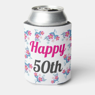 Happy 50th Birthday Gift Can Cooler
