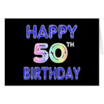 Happy 50th Birthday Gifts and Birthday Apparel Greeting Card