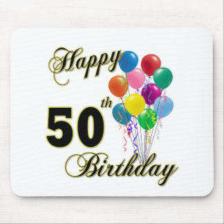 Happy 50th Birthday Gifts and Birthday Apparel Mouse Mat
