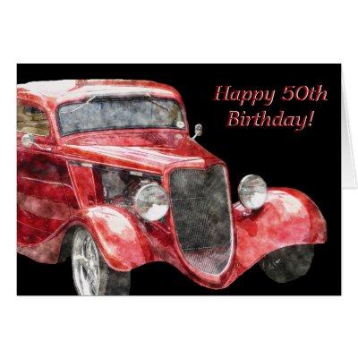 Happy Half Century Birthday Card