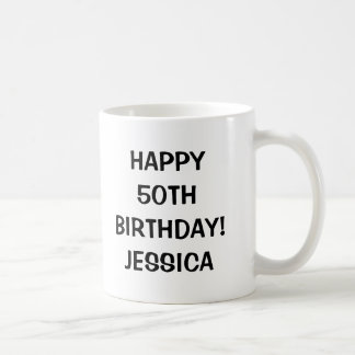Happy 50th Birthday mug | Personalizable age year