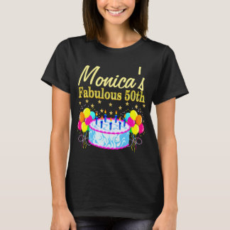 HAPPY 50TH BIRTHDAY PERSONALIZED PARTY T SHIRT