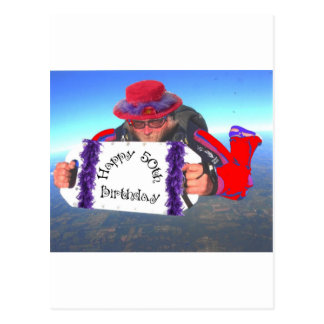 Happy 50th Birthday Postcard