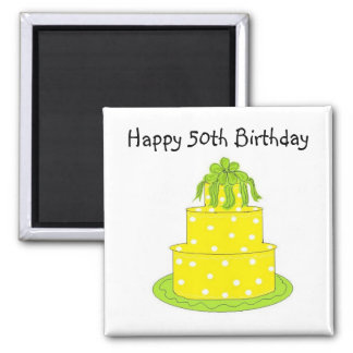 Happy 50th Birthday Square Magnet