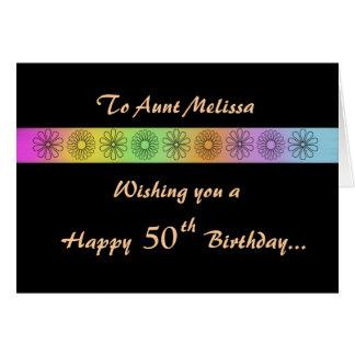 Happy 50th Customizable Birthday Card