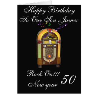 HAPPY 50TH SON GREETING CARD