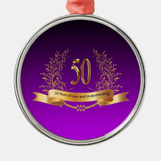 Happy 50th Wedding Anniversary Gifts Christmas Ornament