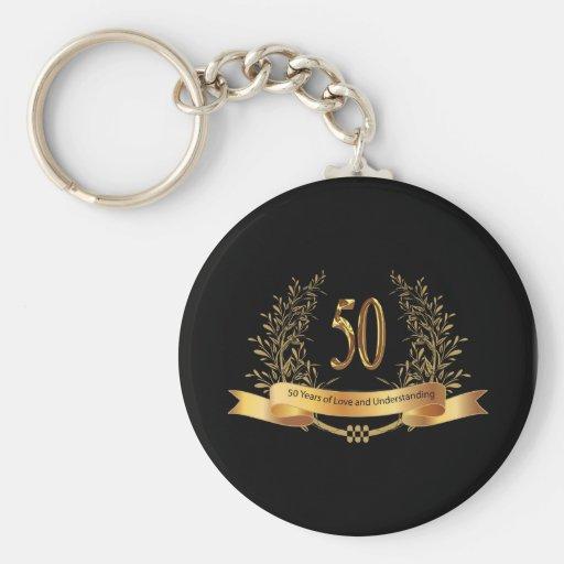 Happy 50th Wedding Anniversary Gifts Key Chain