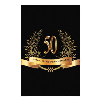 Happy 50th Wedding Anniversary Gifts Stationery