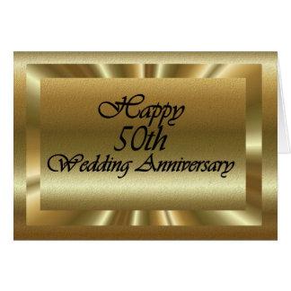 Happy 50th Wedding Anniversary Greeting Card