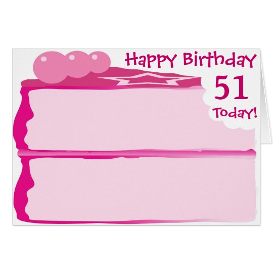 Happy 51st Birthday Card