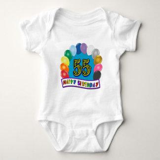 Happy 55th Birthday Balloon Arch Baby Bodysuit