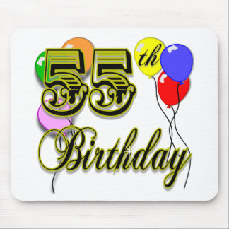 Happy 55th Birthday Celebration Mouse Pad