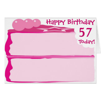 Happy 57th Birthday Card