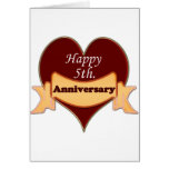 Happy 5th. Anniversary Greeting Card