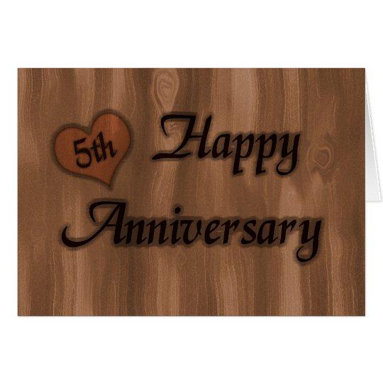 Happy 5th Anniversary (wedding anniversary) Card