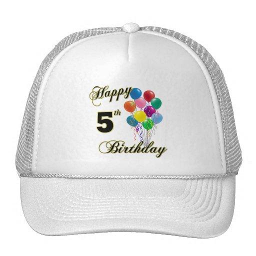 Happy 5th Birthday Baseball Caps and Hats