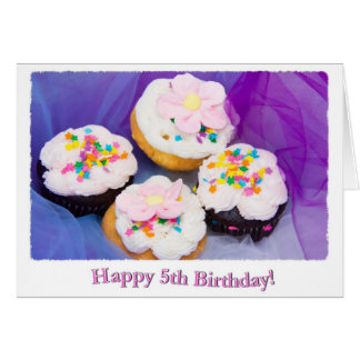 Happy 5th Birthday Chocolate And Vanilla Greeting Card