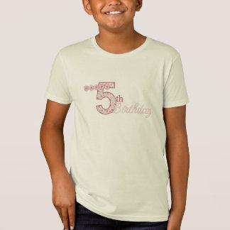 Happy 5th Birthday Pink T-Shirt