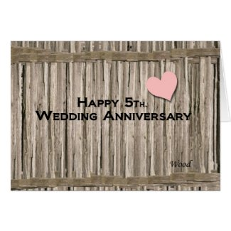 Happy 5th. Wedding Anniversary Card