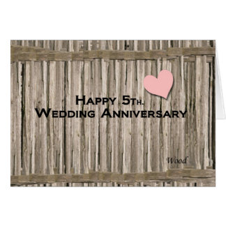 Happy 5th. Wedding Anniversary Greeting Card