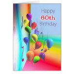 Happy 60th Birthday Balloon Wall