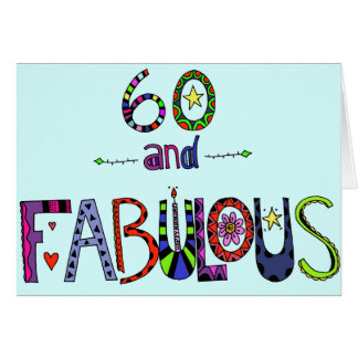 Happy 60th Birthday - Birthday Balloons Card