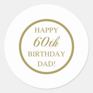 Happy 60th Birthday Dad Classic Round Sticker