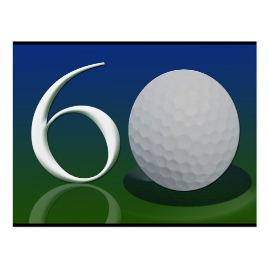 Happy 60th Birthday for golf nut Postcard