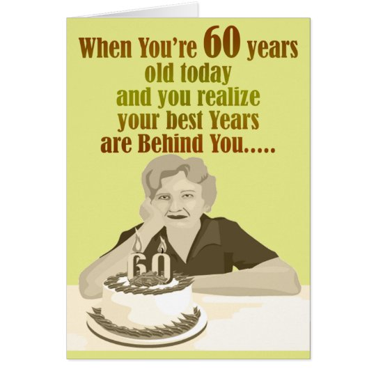 Happy 60th Birthday Grandmother Fun Greeting Cards