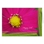 Happy 60th Birthday Greeting Card -- Pink Cosmos