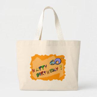 Happy 60th Birthday! Large Tote Bag